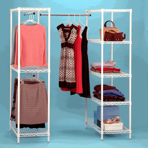 Great Idea For Extra Closet Space When You Have No Closets!