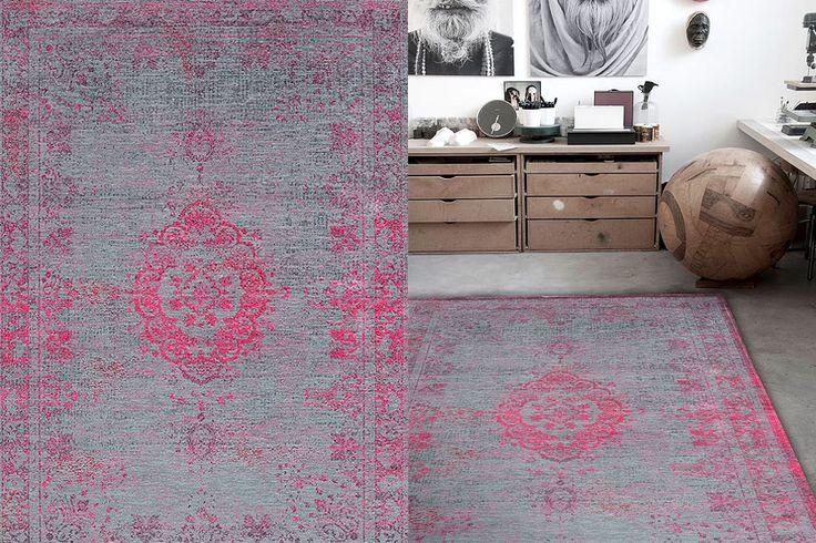 Fur Deco | cotton-wool rug medallion - pink flash