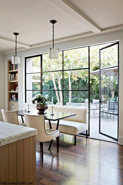 What about this kind of door to bring more light into kitchen?