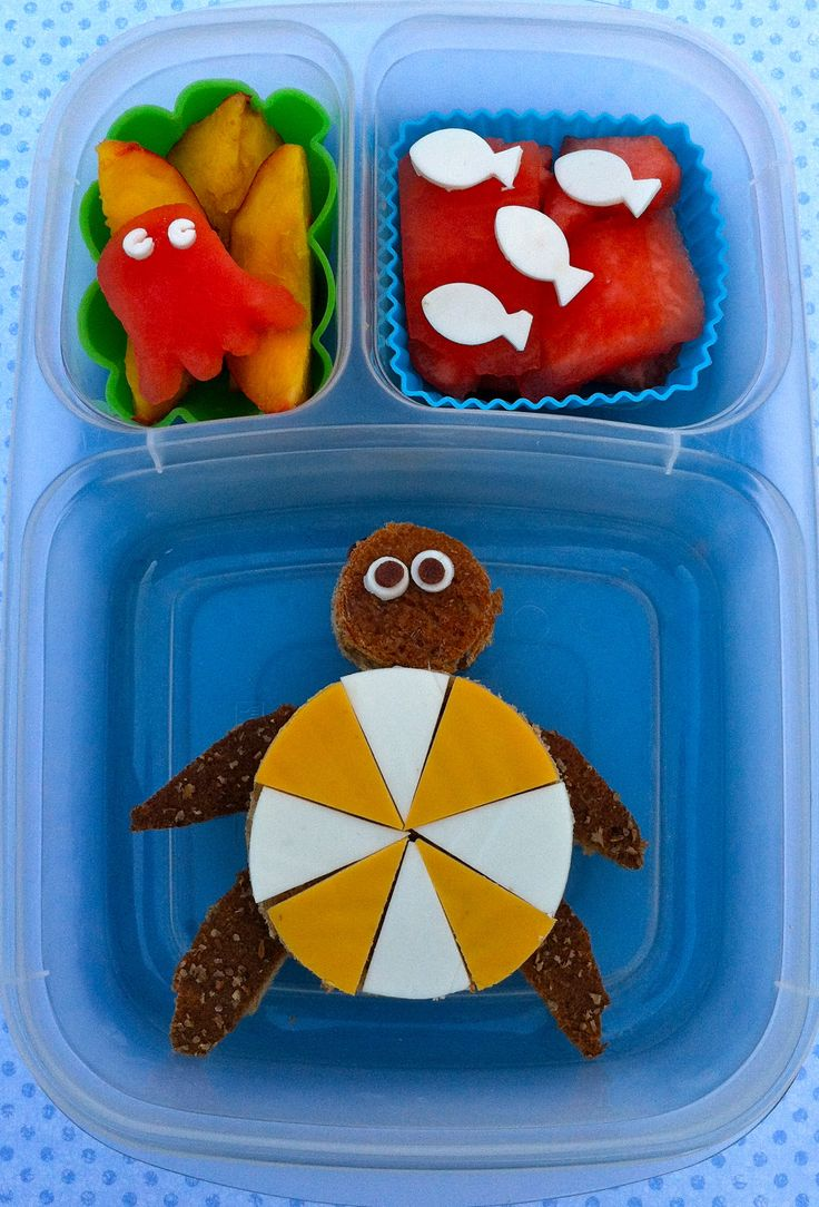 Turtles & boats in the Gulf....in a lunch box