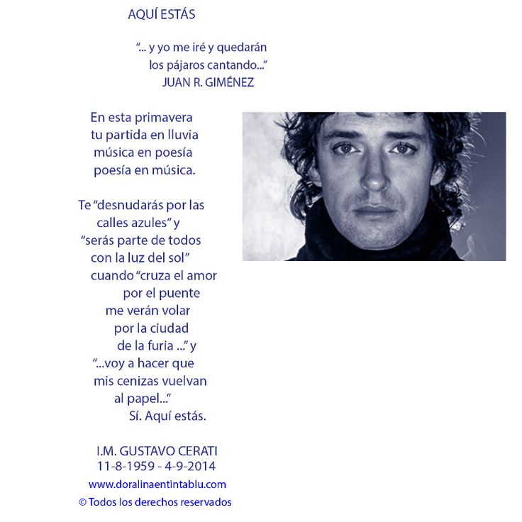 Homenaje Gustavo Cerati by Dora Emilia Littvik