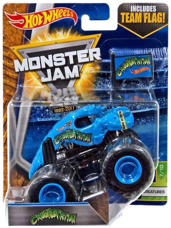Crushstation Y Jam Wheels Hot Team FlagAutos Creatures Monster Mas JTK3uFcl15