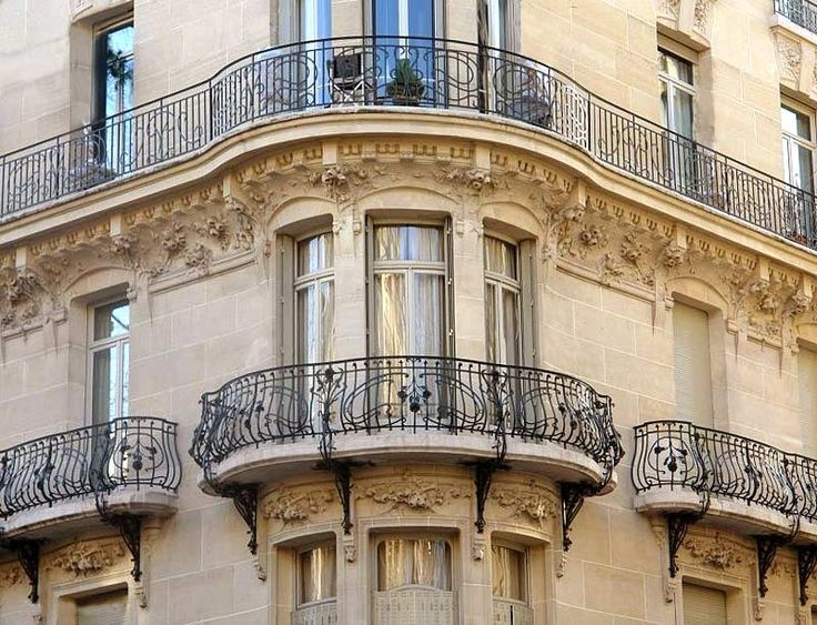 107 best blacksmith images on pinterest wrought iron for Modern french balcony
