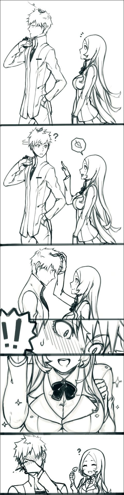 Bleach - Ichigo and Orihime  I'm not for them but this is funny!