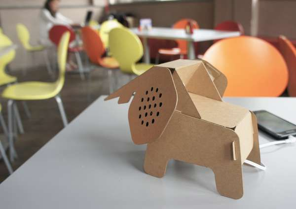 Electronic Cardboard Creatures - The AREA + Eco DIY Collection is Endearing and EconomicalEduardo Alessi, Elephant Speakers, Cardboard Animal, Gadgets, Paper, Eco Diy, Products, Diy Collection, Design