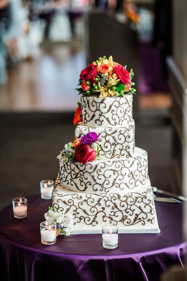 fall, wedding cake, plum