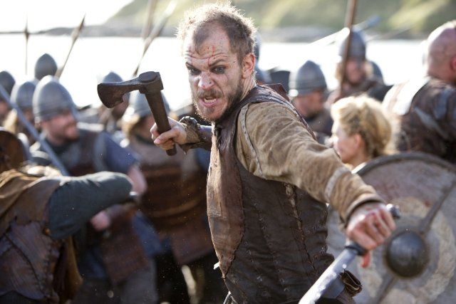 Still of Gustaf Skarsgård in Vikings - the brother of Alexander. The History Channel - VIKINGS-