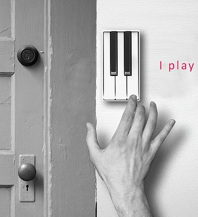 Piano doorbell - Ok, just decided that we will look for one of these to put outside Volume and LiGht's office door!