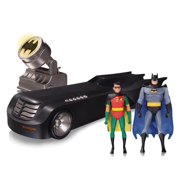 Batman Animated  Series Deluxe Batmobile Action Figure Variant