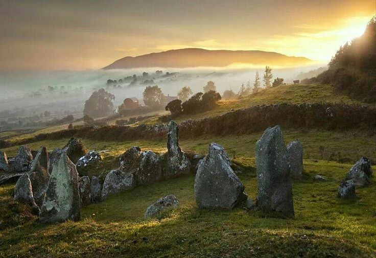Sleive Gullion - a well-preserved court tomb known as Ballymacdermot Cairn.Co Armagh (Ireland)