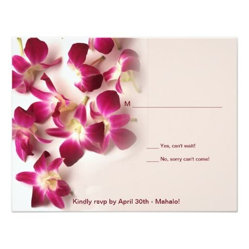 Hawaiian Orchid Reply Card