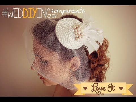 DIY Mi Boda Rocks - Tocado - YouTube