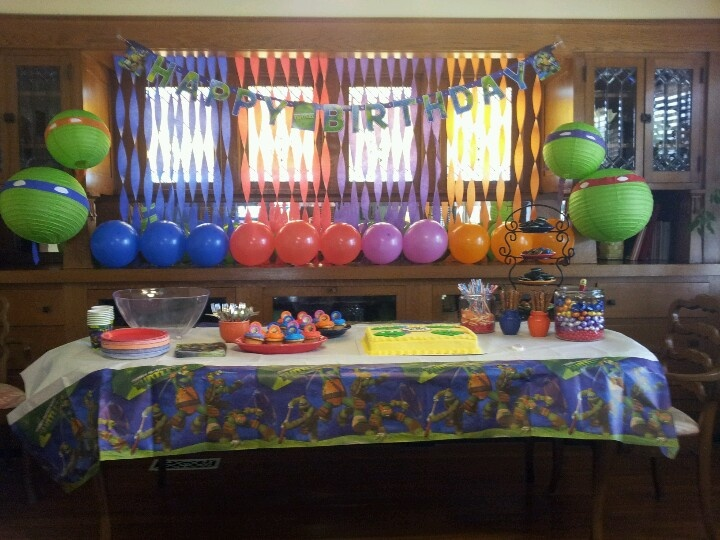 Tmnt decorations baby shower ideas pinterest tmnt for Tmnt decorations