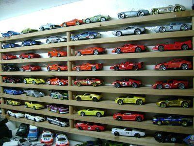 Matchbox cars storage / display made out few shoe racks stuck together