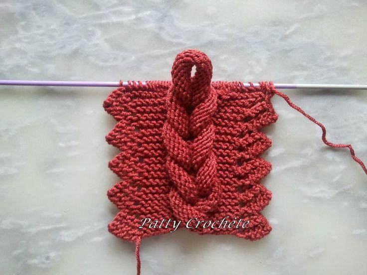 L'écharpe à la tresse solo - braided scarf  #knitting