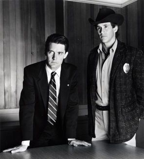 """FBI agent Dale Cooper (Kyle MacLachlan, left) and Sheriff Harry S. Truman (Michael Ontkean) delved into the murder of Laura Palmer in the original """"Twin Peaks"""" from 1990-91. MacLachlan will be in the new limited series...  May the Forest Be With You..."""