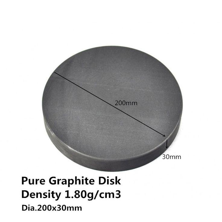 66.00$  Buy now - Dia.200*30mm Graphite Round Plate  ,  Carbon Graphite Sputtering Targets,   graphite bursting discs  #aliexpresschina