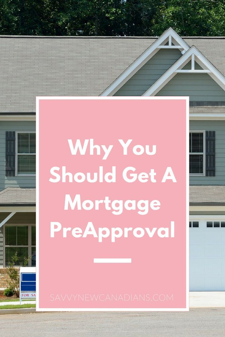 Mortgage pre approval online canada
