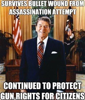 """FACT CHECK -- ..""""Every year, an average of 9,200 Americans are murdered by handguns, according to Department of Justice statistics,"""" Reagan said in the op-ed. """"… If the passage of the Brady bill were to result in a reduction of only 10 or 15 percent of those numbers (and it could be a good deal greater), it would be well worth making it the law of the land.""""http://www.politifact.com/georgia/statements/2013/feb/05/barack-obama/did-reagan-support-assault-weapons-ban/"""