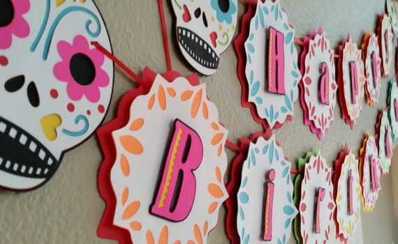 Sugar Skull Banner, Sugar Skull Birthday Party, Sugar Skull Baby Shower ideas, Sugar Skull Baby Shower decorations, Sugar Skull Baby Shower decor