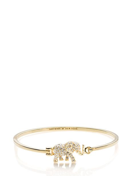 dainty sparklers pave elephant bangle - kate spade new york - On my wish list