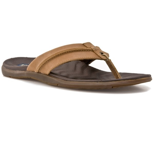 Sperry Top-Sider Men's Marlin Flip Flop - Brown ($40) found on Polyvore