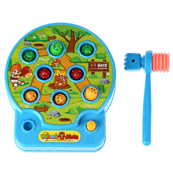 Cute Baby Whac-A-Mole Mole Electric Music Playing Hamster Game Machine of Pocket Mole Lovely Electronic Plastic Kids Game Toy