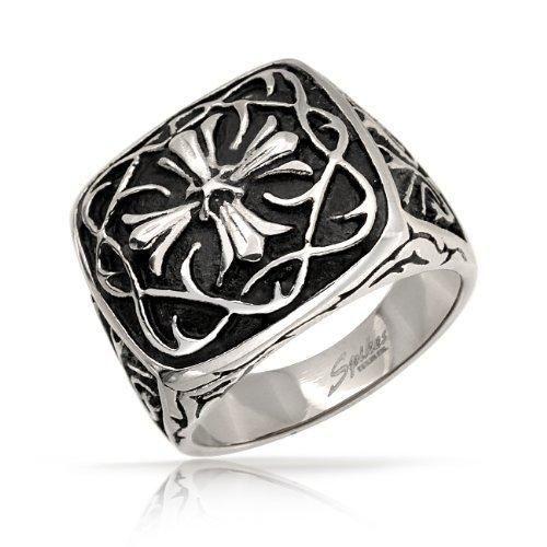 Bling Jewelry Stainless Steel Celtic Cross Mens Ring