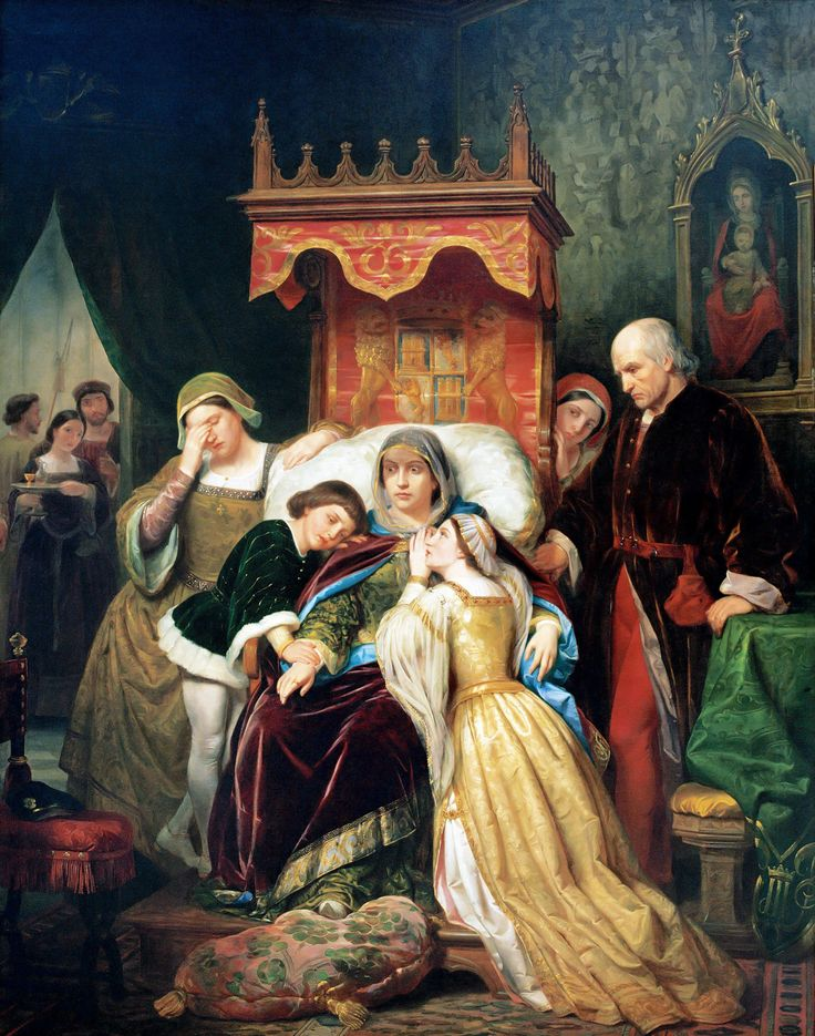 PELEGRÍN CLAVÉ. La demencia de Isabel de Portugal. Siglo XIX.