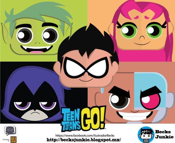 Teen Titans Go Mini Papercrafts Free Templates Download