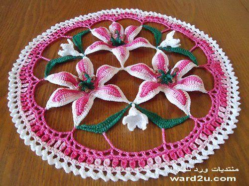 3d flower mat