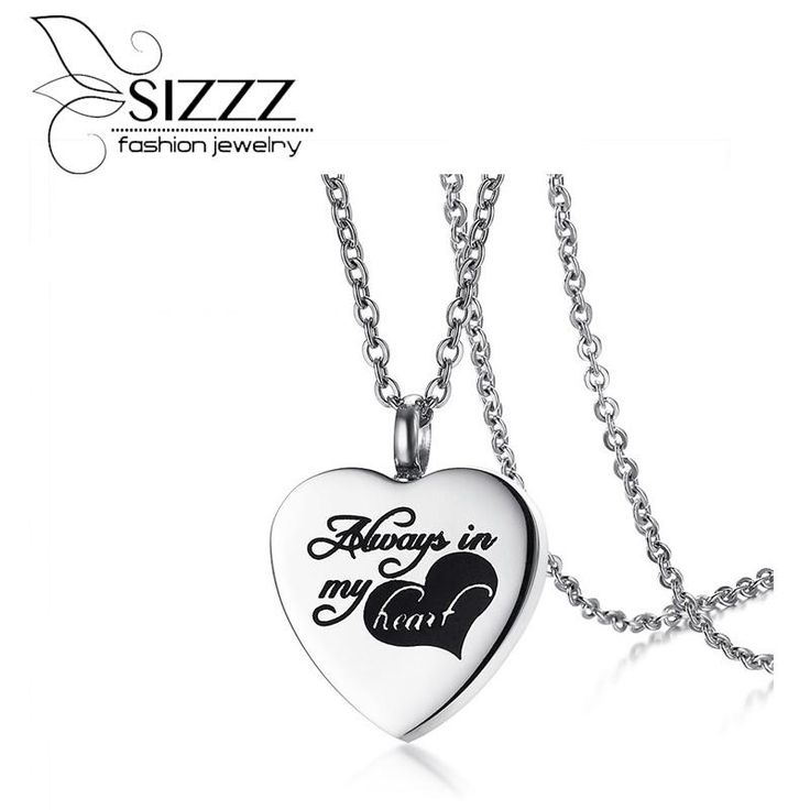 SIZZZ New Stainless Steel Pleated Pet Casket Pendant Can Open Heart Shampoo Pendant For Women