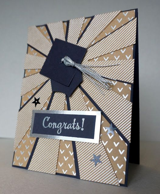 Sunburst Thinlit Graduation Card - The Stamp Cycle