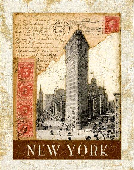 "Postmark NewYork, Flat Iron Building 11""x14"". $11.99, via Etsy."