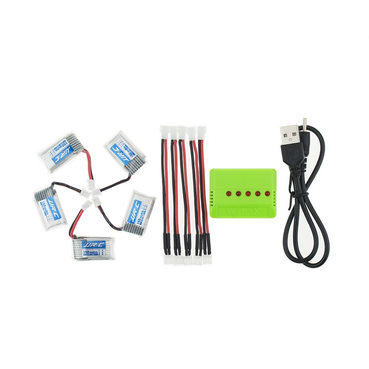 5pcs Lipo Battery For JJRC H36 & Eachine E010 3.7V 150mAh Li-po Battery With 5in1 Charger Set RC Quadcopter Spares Parts Toys //Price: $US $14.05 & FREE Shipping //     #toyz24