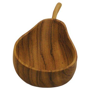 Check out this item at One Kings Lane! Teak Pear Bowl