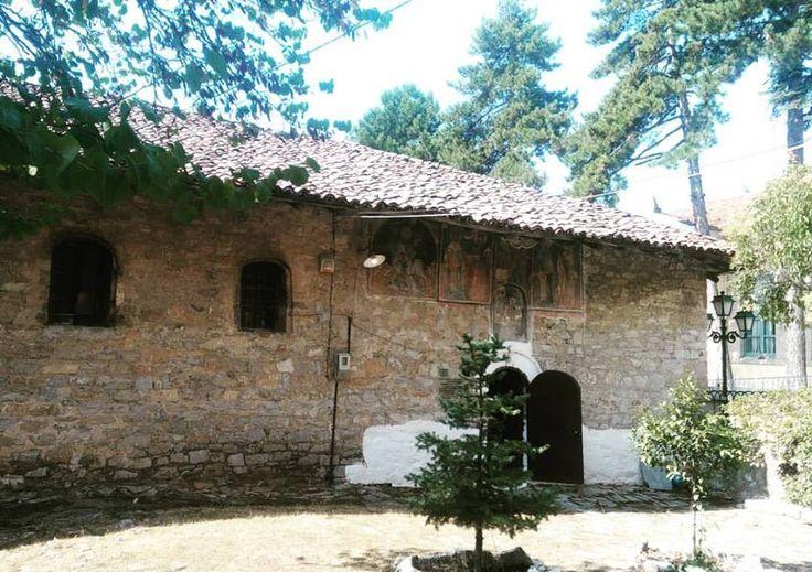 Η εκκλησία της Αγίας Παρασκευής χτισμένος το 1677 στη Σιάτιστα-Greece