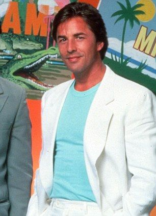 80's style Don Johnson as Sonny Crockett in Miami Vice