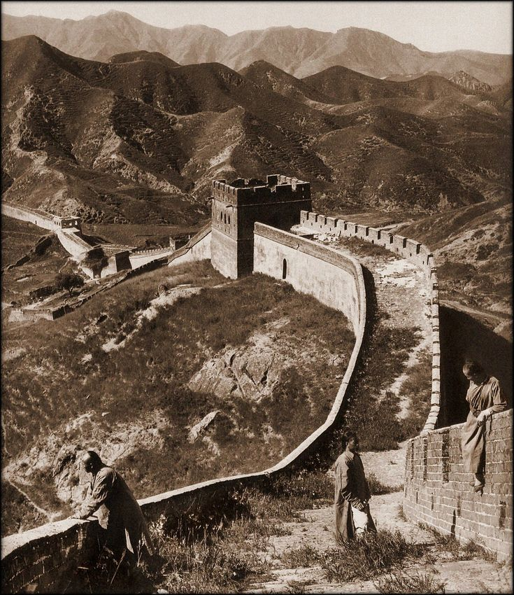 Great Wall China, 1907 by Herbert G. Ponting