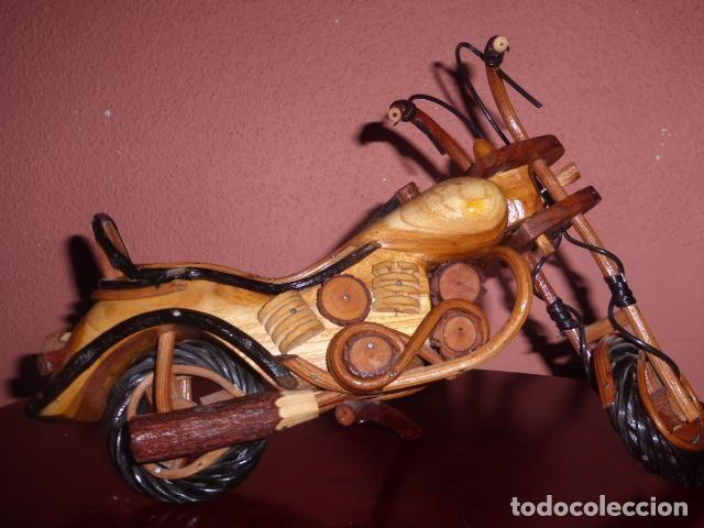 Segunda Mano: MOTO DE MADERA DE ESTILO HARLEY HECHA A MANO - Foto 2 - 62041408