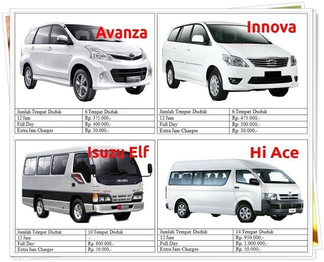 Daftar Harga Pilih Nahwa untuk Jasa Travel dan Rental Mobil di Malang