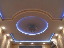 Двухуровневый потолок в зале | Фото 7