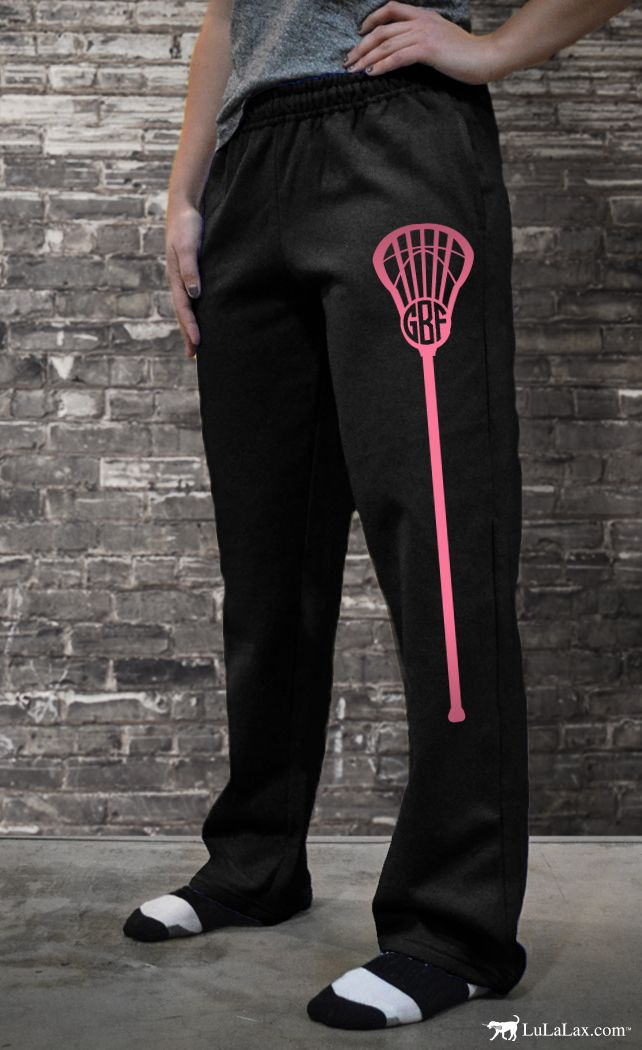 Our girls #lacrosse sweatpants are soft sweatpants with unique and personalizable text and designs, and a comfortable, cozy unisex fit. Perfect for players and lacrosse team gifts!