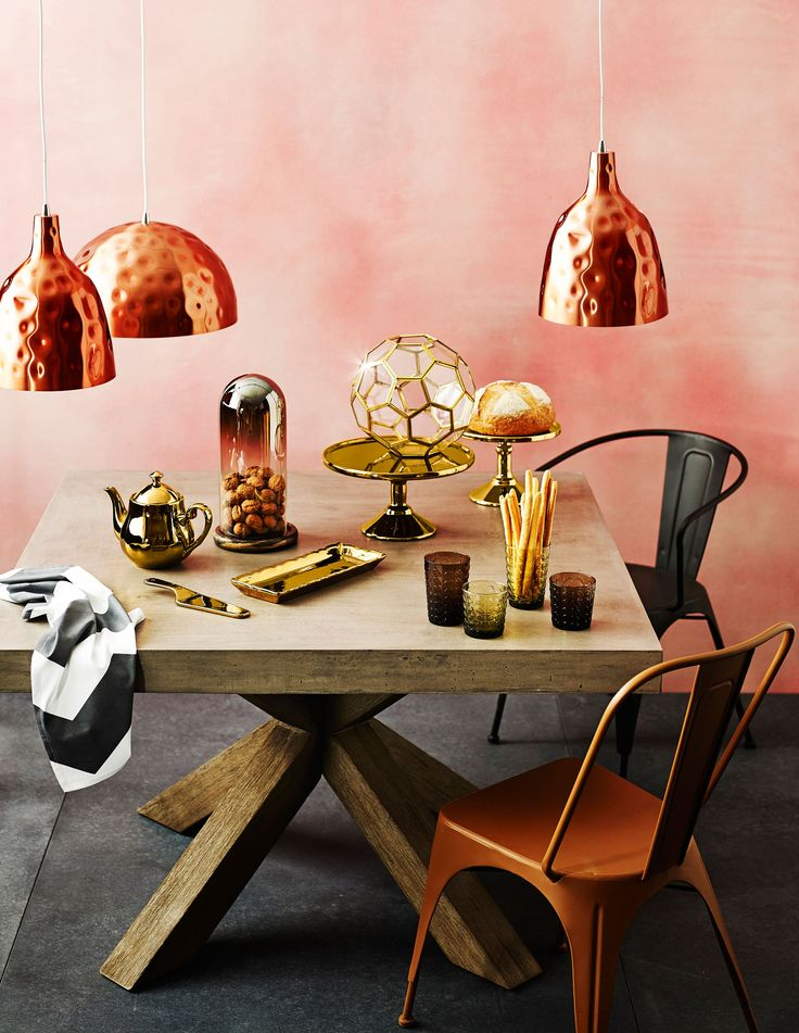 Ginger Pendant Lights in Copper available at Domayne