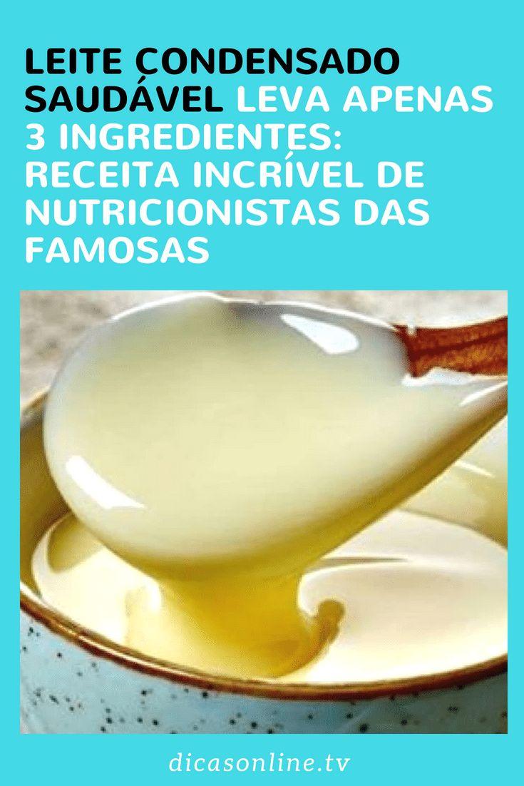 Saiba como fazer leite condensado fit