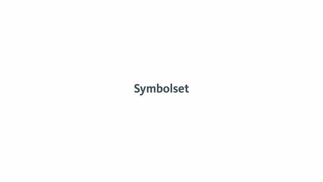 Symbolset teaser. Symbol font activated by keywords - works in all modern browsers
