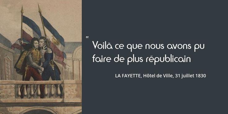 Le personnage du jour : La Fayette. Il crée la cocarde tricolore et tente de sauver la famille royale. Portrait