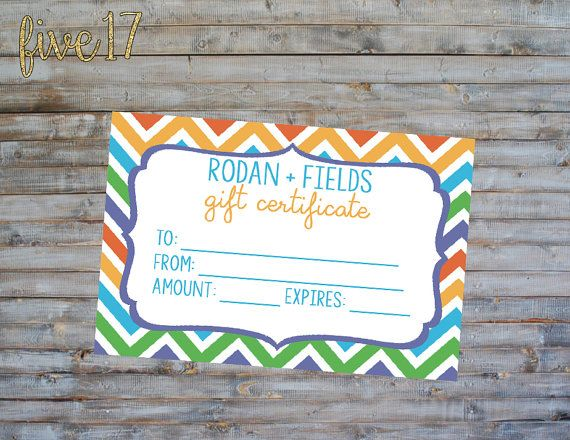 Rodan and Fields Chevron Gift Certificate - INSTANT ...