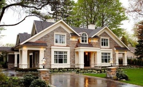 The exterior color scheme on this house is perfect.Dreams Home, Interiors Design, Beautiful Home, Dreams House, Curb Appeal, Home Design, Dream Houses, Difference Style, Stones House
