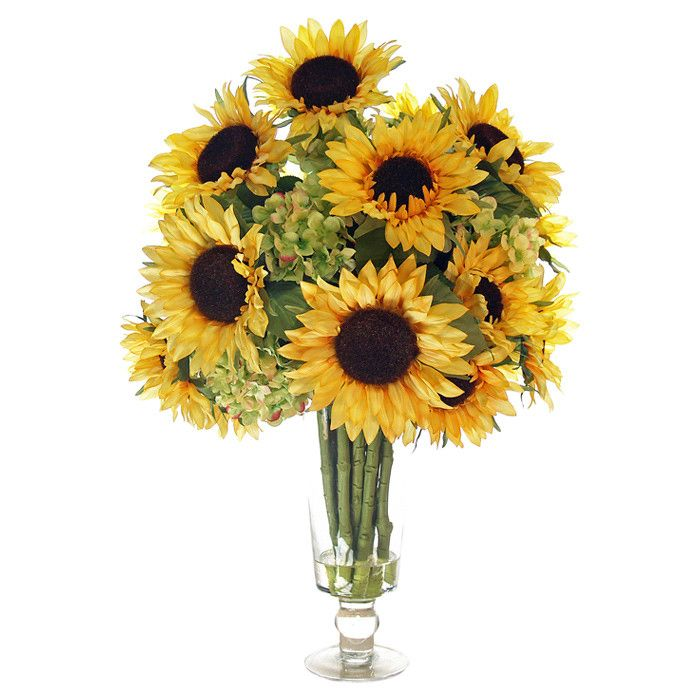 Sunflower arrangement floral pinterest